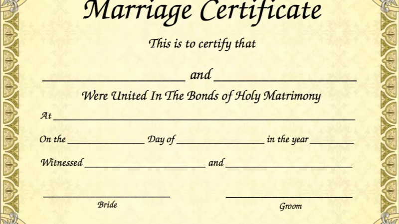 Why having a certified marriage certificate is important